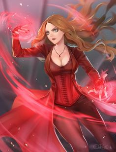 A really amazing drawing of Scarlet Witch in Civil War! Marvel Women, Marvel Girls, Comics Girls, Marvel Art, Marvel Dc Comics, Marvel Heroes, Marvel Characters, Marvel Movies, Captain Marvel