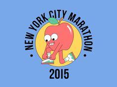 NYC Marathon, Runner's World USA — Dan Woodger Illustration