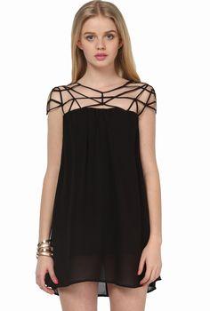 Black Girl Cut Out Shift Chiffon Mini Dress zł87.88