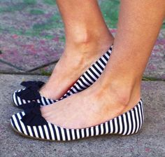 Love the striped shoes