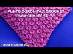 Punto Coronita tejido a crochet paso a paso fácil de tejer para cobijas y bufandas - YouTube