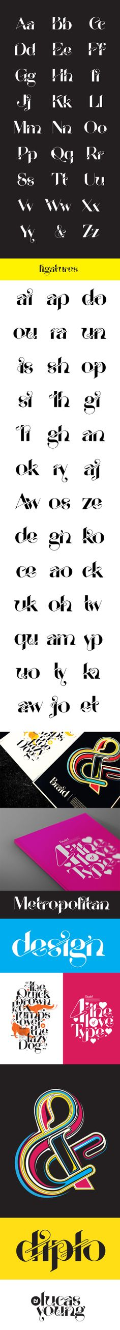 Braid Typeface by Lucas Young, via Behance