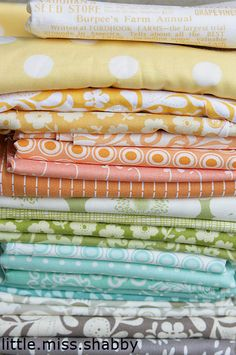 I always love the piles Corey puts together.  She has a wonderful color sense!!