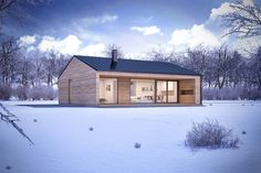 Helpful Tips For modern home design kitchen Modern Barn House, Modern Cottage, Modern House Design, House Layout Plans, House Layouts, Small House Plans, Casas Containers, Prefabricated Houses, Prefab Homes