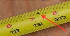 Ever Wonder What The Black Diamond On Tape Measures Are For? Cool Tools, Diy Tools, Hand Tools, Home Repair, Carpentry, Good To Know, Just In Case, Woodworking Projects, Home Improvement