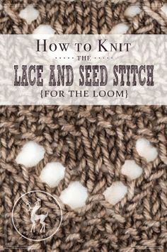 How To Knit Stitch On A Loom : Vintage, Loom breien and Inleidingen on Pinterest