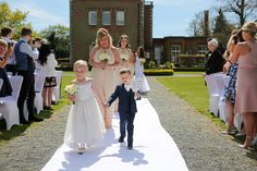 The bride comes to get married with two lovely beautiful children. Bride & groom getting married outside in traditional style at Theobald's Park Hotel North London. Flower Dresses, Prom Dresses, Wedding Dresses, Got Married, Getting Married, Park Hotel, North London, Beautiful Children, Bride Groom