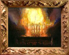 Nebojsa Seric Shoba, 'Missing Painting': British forces setting White House on fire, August 24th, 1814, 2007, Oil on Canvas, #BAG #BalkanArtistsGuild