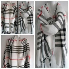 Mix Berry, Fashion Illustration Vintage, Shawls And Wraps, Plaid Pattern, Scarf Styles, Talbots, Plaid Scarf, Scarves, Cashmere
