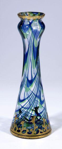 Vase, Harrach Neuwelt Glass, Art Nouveau, ca.1900