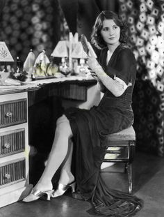 """Photo - Barbara Stanwyck prepares for filming """"The Night Flower"""", 1930 Old Hollywood Style, Night Flowers, The Golden Years, Barbara Stanwyck, Body Shots, Woman Back, Lonely Heart, Joan Crawford, Vintage Vanity"""