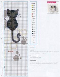 Cats. Cross-stitching pattern. Part 2