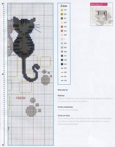 Cats.. Cross-stitching pattern.. Part  2.. with the color chart