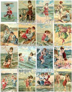Vintage Bathing Beauties Collage Sheet 101