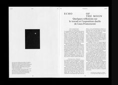 Echo of the Moon Editorial Design Kaleidoscope Press 2012 : Kasper Florio Editorial Design, Editorial Layout, Print Layout, Layout Design, Typography Poster, Typography Design, Publication Design, Book Layout, Branding