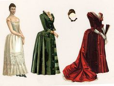 embossed chromo-lithographed paper doll probably from the early 1890s