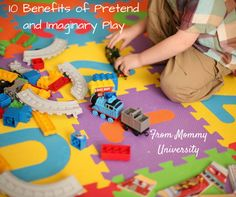 10 BENEFITS OF PRETEND AND IMAGINARY PLAY by Mommy University at www.MommyUniversityNJ.com