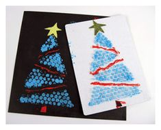 Make cards or decorate a package with  some of the Enviro bubble wrap left over from your move! I Holiday Ideas
