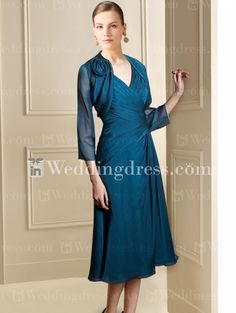 Tea Length Mother of the Bride Dress  (comes in fuschia and other colors, too)