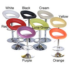 @Overstock.com - Fox Casual Adjustable Barstools (Set of 2) - Pull up a seat and enjoy your bar or counter with these colorful adjustable barstools. This set of two stylish stools has a bright chrome base that supports molded polyurethane seats in a variety of colors to fit your existing decor.  http://www.overstock.com/Home-Garden/Fox-Casual-Adjustable-Barstools-Set-of-2/5528706/product.html?CID=214117 $173.99
