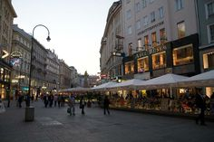 Vienna Austria....one of the shopping squares