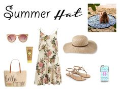 """summer hat"" by sofia-624 ❤ liked on Polyvore featuring L.L.Bean, VILA, Accessorize, Style & Co., Sun Bum and summerhat"