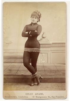 Dolly Adams. Circa 1890.
