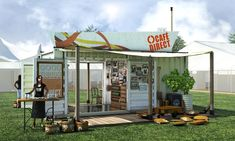 Café Direct Shipping Container Unit - Framework Creative
