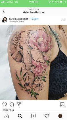 elephant tattoos for women - elephant tattoos ; elephant tattoos with flowers ; elephant tattoos meaning ; elephant tattoos for women ; Wolf Tattoos, Baby Tattoos, Dream Tattoos, Mini Tattoos, Future Tattoos, Leg Tattoos, Flower Tattoos, Body Art Tattoos, Tattoo Drawings