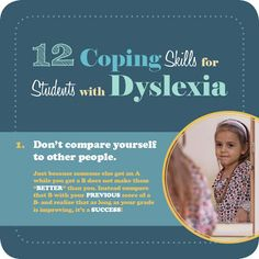 Coping Skills for Students with Dyslexia: Don't compare yourself to other people.