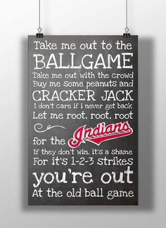 Hey, I found this really awesome Etsy listing at https://www.etsy.com/listing/172044661/cleveland-indians-take-me-out-to-the