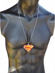 LARGE RED SUPERMAN NECKLACE