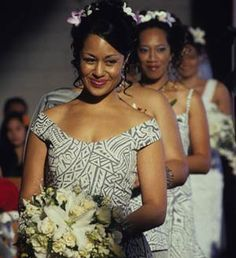 Leilani (Teuila Blakely) leads bridesmaids Sione's Wedding.