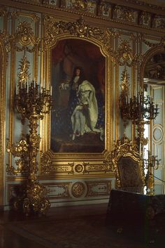 """GERMANY ~ Herrenchiemsee """"New"""" Palace Home of King Ludwig III of Bavaria .Patterned after the Palace of Versailles in France. Chateau Versailles, Palace Of Versailles, Luís Xiv, Ludwig Xiv, Style Français, New Palace, Palace Interior, Château Fort, Royal Residence"""