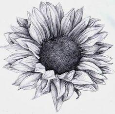 Black and White Sunflower Tattoo Designs | Sunflower Tattoos