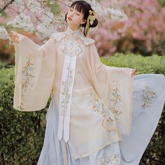 Hanfu, Oriental Fashion, Oriental Style, Folk Dance, Model Outfits, Fairy Dress, Chinese Clothing, Chinese Style, Dance Costumes