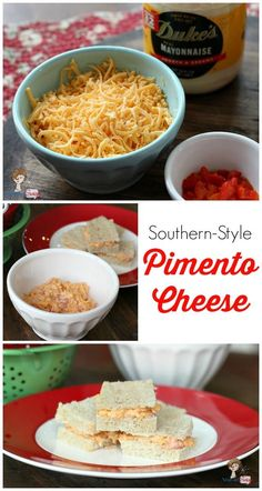 Pimento spread between two pieces of soft, white bread. Does a sandwich get any better than this? This simple southern pimento cheese recipe is a family favorite.