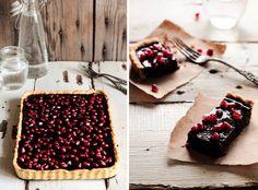 Pastry Affair | Chocolate Pomegranate Tart Yotam Ottolenghi, Decadent Chocolate, Chocolate Truffles, Chocolate Tarts, Dessert Recipes, Impressive Desserts, Meringue Cake, Pumpkin Bread, Gourmet