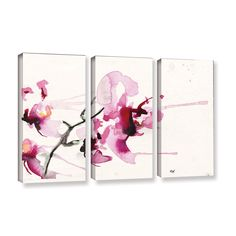 Orchids Iii by Karin Johannesson 3 Piece Gallery-Wrapped Canvas Set
