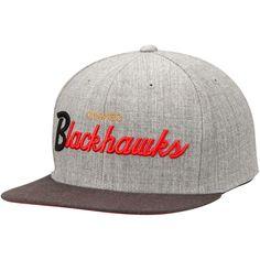 80ce4634d7bbe Chicago Blackhawks Mitchell   Ness Tri-Pop Special Script Adjustable Snapback  Hat - Gray -