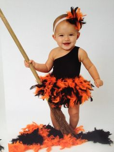 Halloween FULL  Feather Diaper Cover  Adorned With Black and Orange Feathers Fabulous Halloween Costume Bloomers on Etsy, $57.00