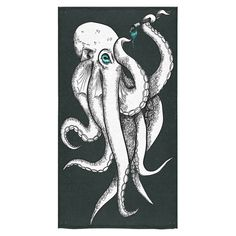 "Custom Octopus Pattern Bath Towels Home&Bathroom Shower Towel Bath Wrap Washcloth Beach Towel 30""X56"" (One Side) -- Awesome products selected by Anna Churchill"