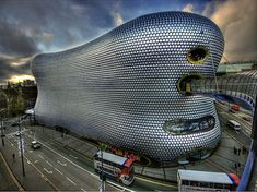 Selfridges Birminham / Birminham / UK  Architect: Future Systems...as if its a parasite feeding of the city...