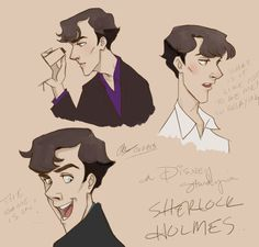 A Disney!lock study in Sherlock Holmes. Absolutely brilliant!! How cute is this?!!