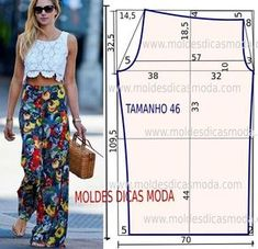 A ilustração do molde de calça não tem valor de costura. Este trabalho tem como objetivo ajudar quem não tem impressora. Love Sewing, Apparel Design, Sewing Techniques, Sewing Pants, Sewing Clothes, Diy Clothes, Pattern Fashion, Girl Dress Patterns, Clothing Patterns