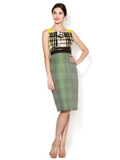 Printed Bodice Woven Combo Dress