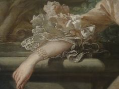 Look at the lace on the arm from Mme the Pompadour by Boucher at the Wallace Collection London. So real...