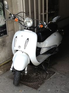 white scooter ......