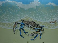 Crab and Shells Mailbox Beach Mailbox Hand por PatMcWhorter