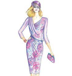 Marfy Dress Marfy Patterns, Vogue Patterns, Dress Sewing Patterns, Italian Pattern, Moda Retro, Classy Suits, Fashion Sketches, Pattern Fashion, Dress Making